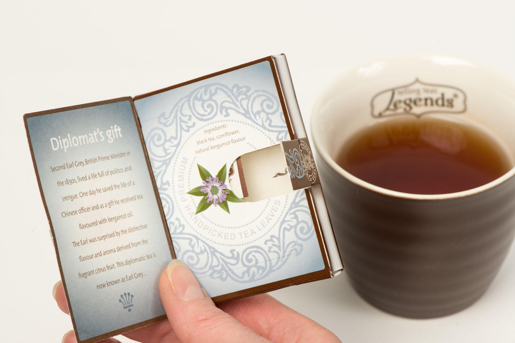 Legends Telling Teas packaging detail