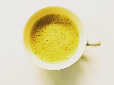 Turmeric Latte on a white background