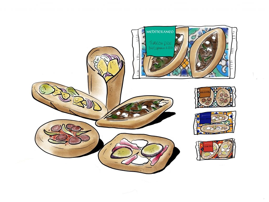 Sketch food innovation for Boboli