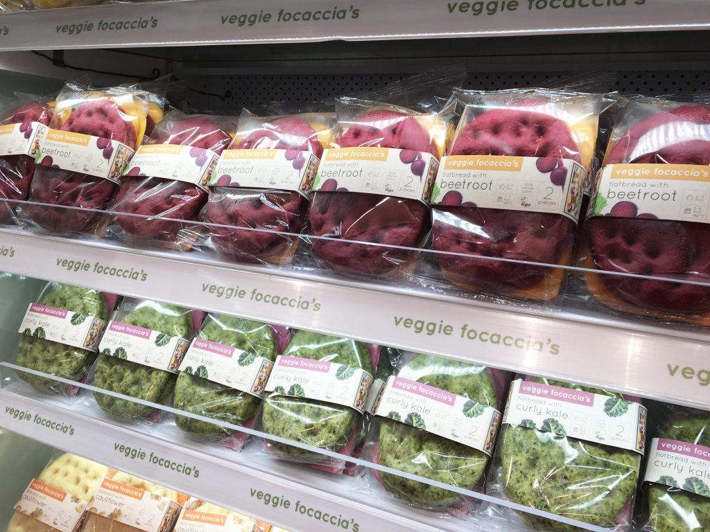 Veggie Focaccia's on shelf