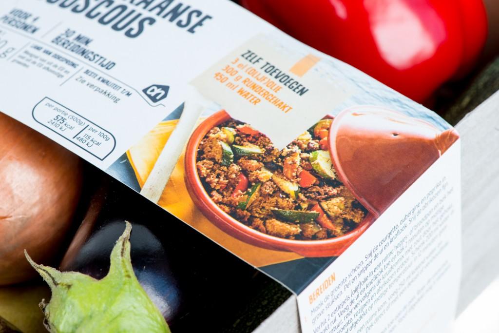 Detail of the packaging of the Albert Heijn Verspakket