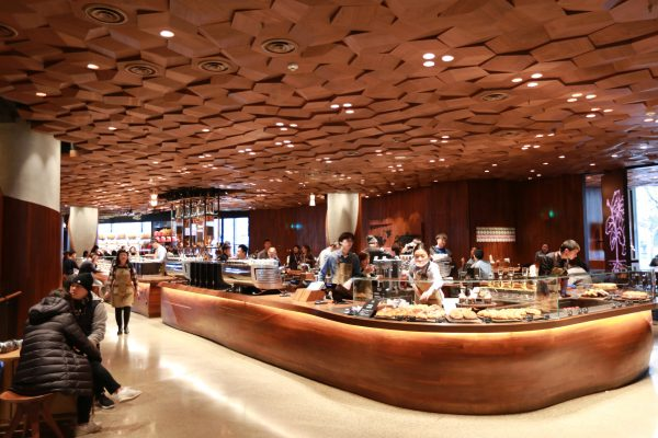Coffee bar Starbucks Roastery in Shanghai China